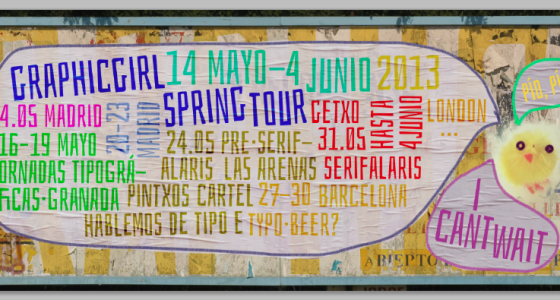 my typographic spring tour